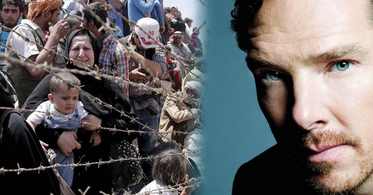 El actor Benedict Cumberbatch insulta al Gobierno británico por su vergonzosa cuota de refugiados