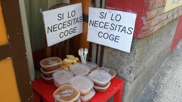 """""""Si lo necesitas, coge"""" es el lema del restaurant español Rochi"""
