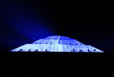 Preparan espectáculo de luz en Teotihuacán