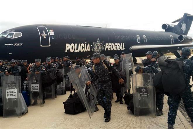 Arriban 10 mil elementos policiales a Chiapas tras Evaluación Docente