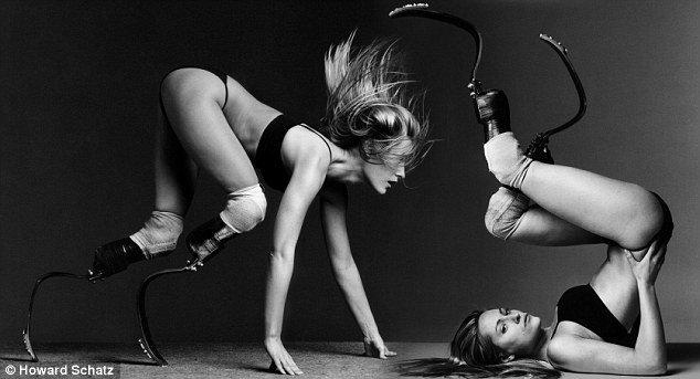 Aimee Mullins, modelo, actriz y atleta paralímpica