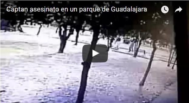 Captan asesinato en parque de Guadalajara