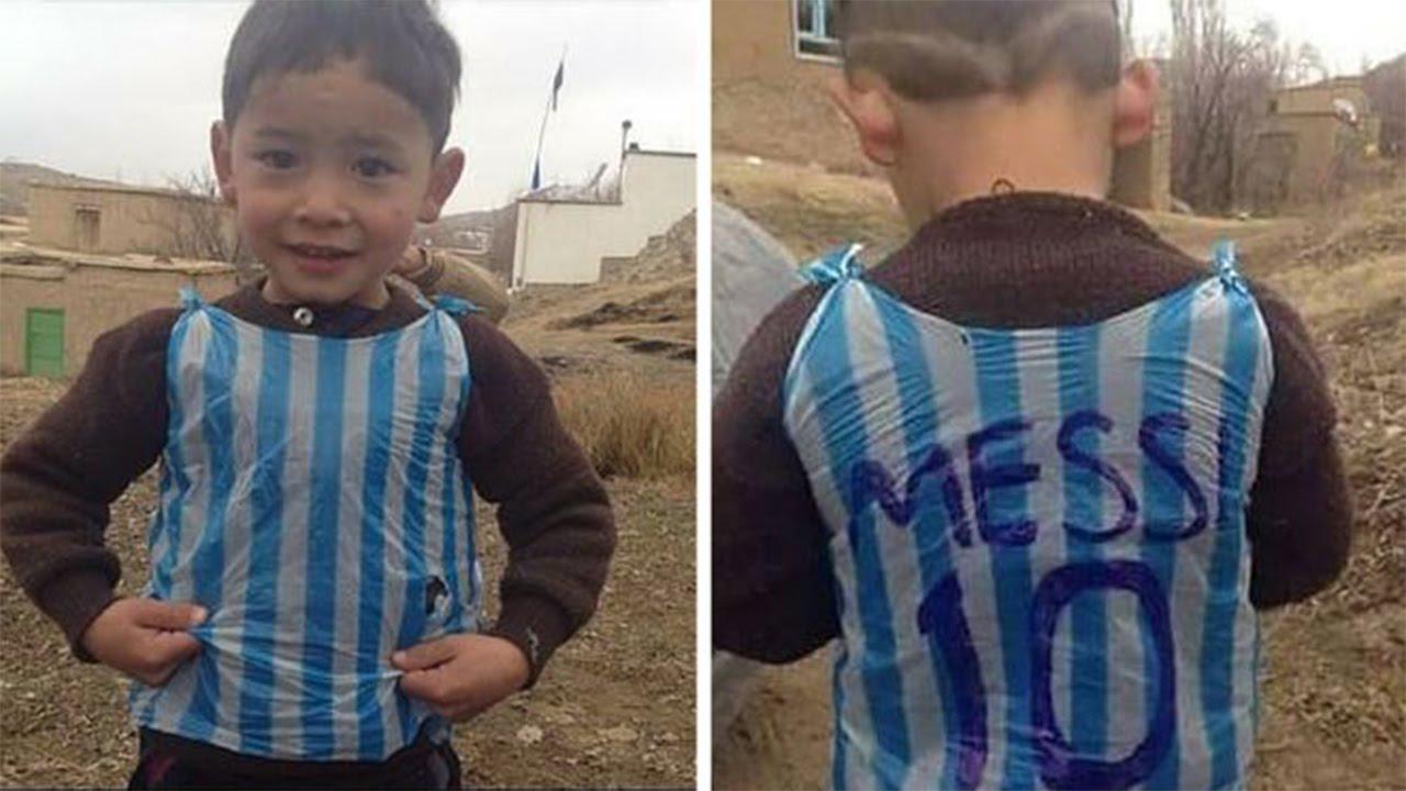 Encontraron al niño de la camiseta de Messi