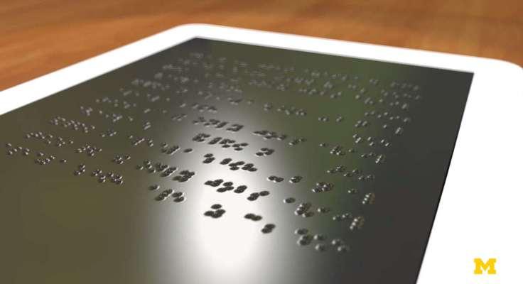 Desarrollan una nueva pantalla touch que despliega texto en braille