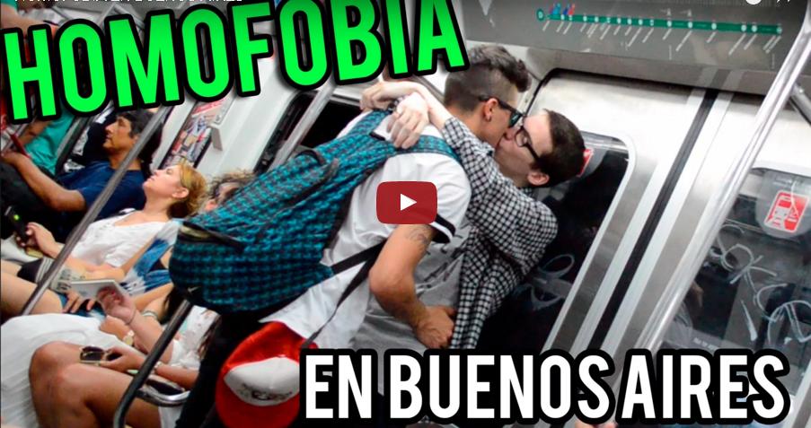 #HomofobiaenBuenosAires El experimento social que pone a prueba tu tolerancia (VIDEO)