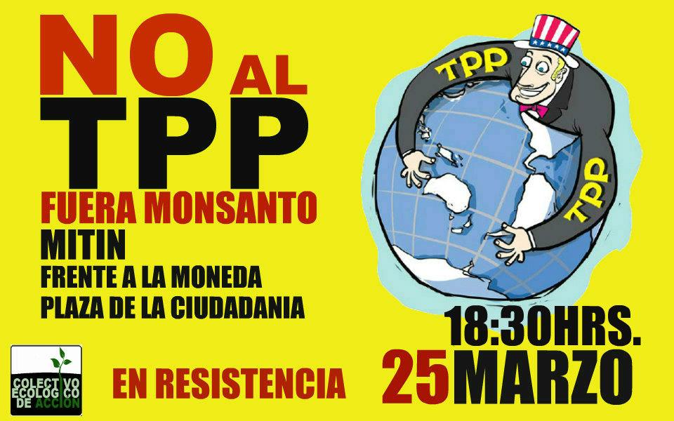 25 de marzo: Manifestación contra el TPP frente a La Moneda