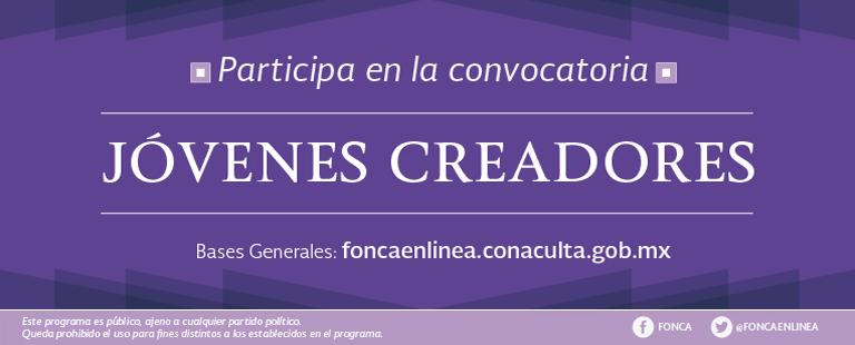 El programa de Jóvenes Creadores del Fonca abre su convocatoria 2016