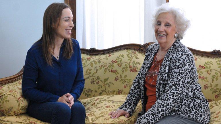 María Eugenia Vidal se reunió con Estela de Carlotto