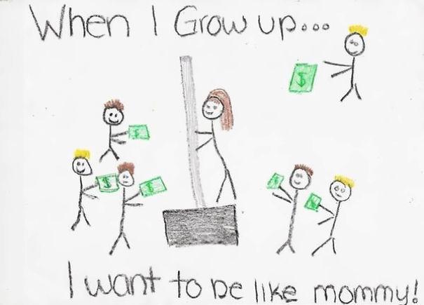 Simpáticos dibujos infantiles que invitan a una segunda y muy desafortunada lectura