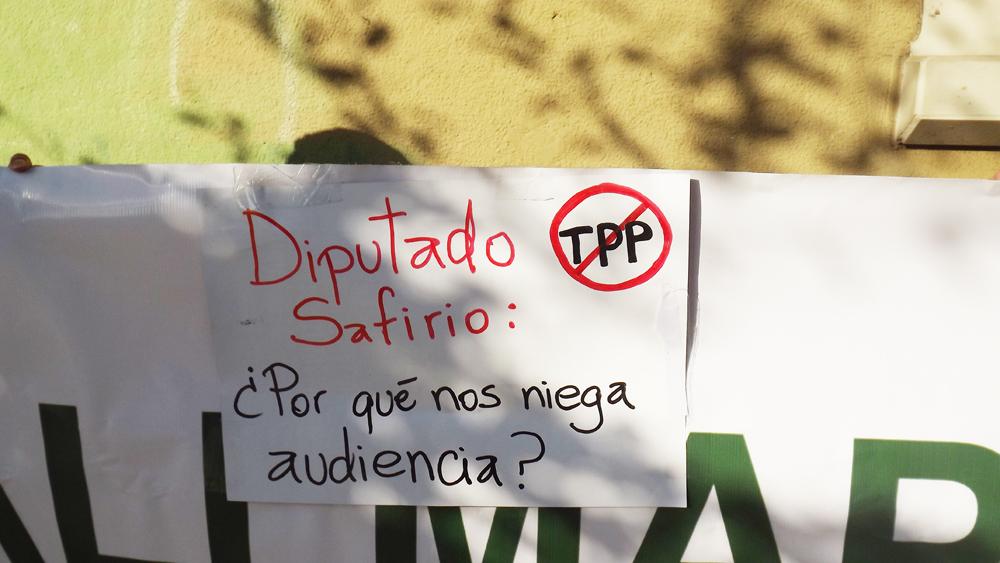 Diputados niegan audiencia para hablar del TPP a organizaciones ciudadanas