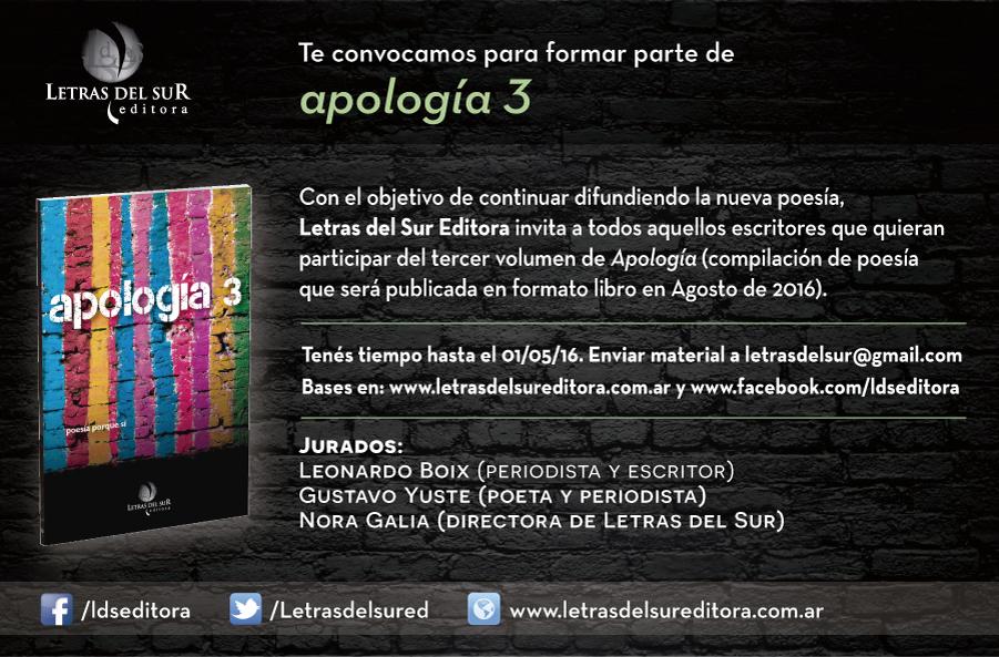 Letras del Sur Editora y una convocatoria a los poetas del continente