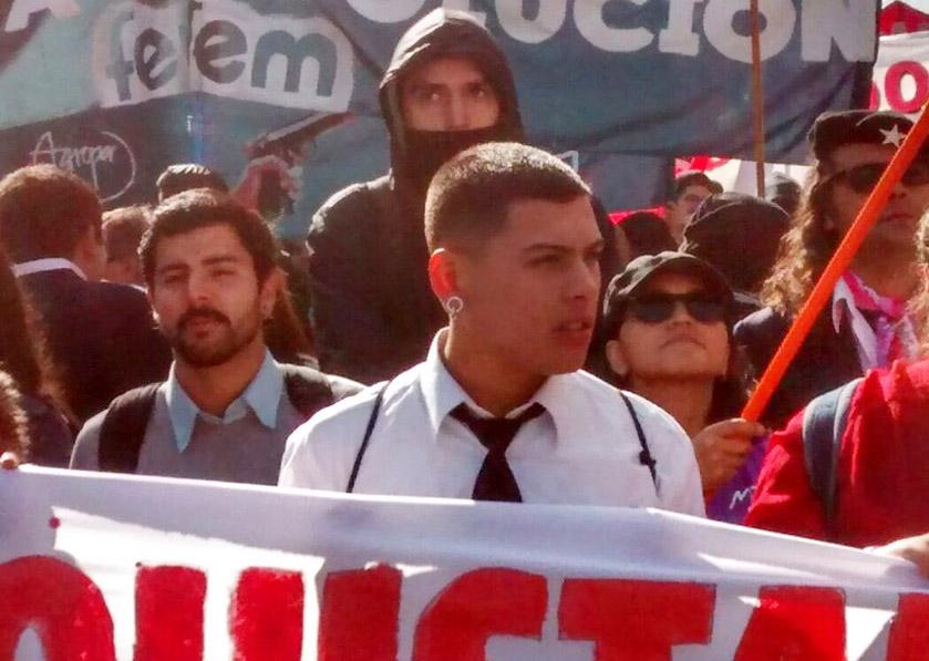 Diego Arraño, vocero de la Aces: «Nuestras luchas son contra un mismo enemigo»
