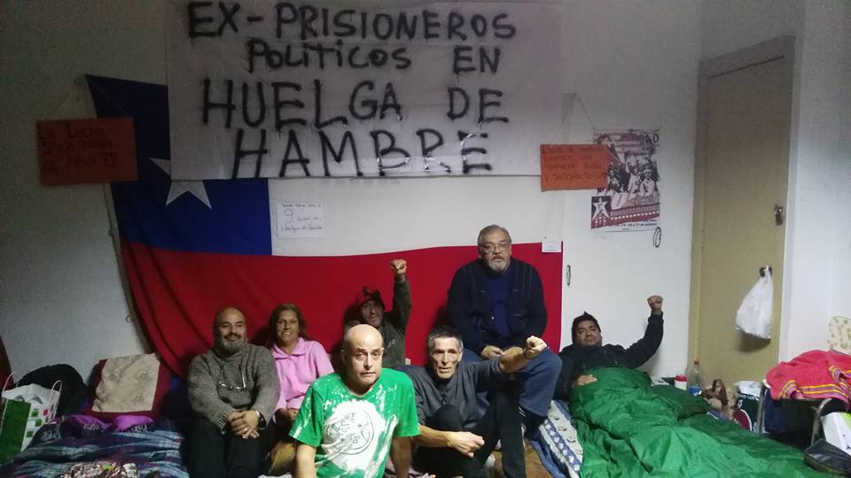 Ex presos políticos cumplen 15 días en huelga de hambre
