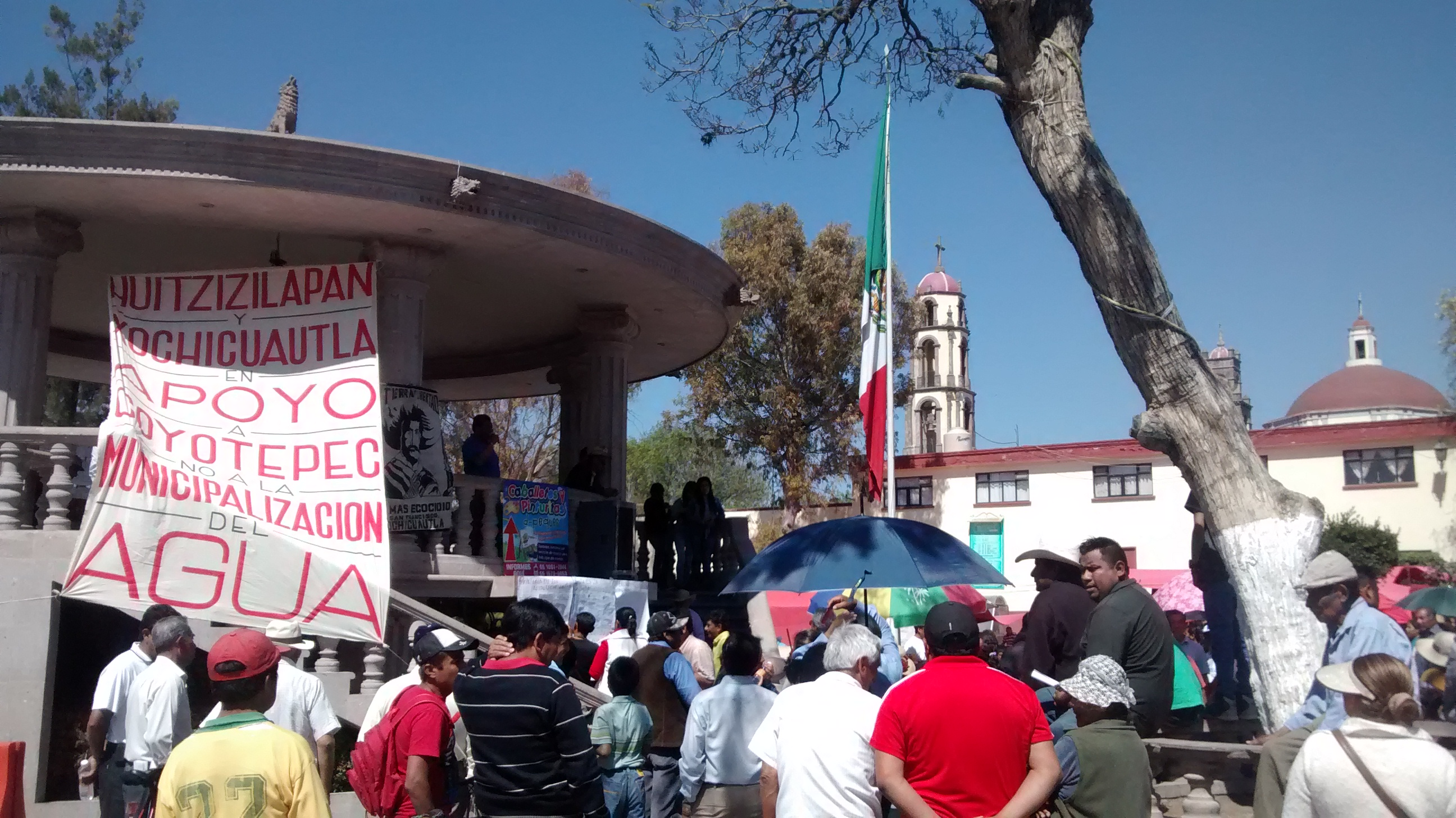 Habitantes de Coyotepec denuncian intento de privatización de agua