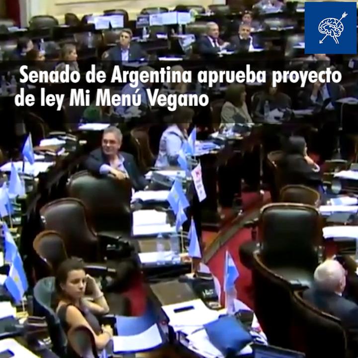 Senado argentino aprueba proyecto Mi menú vegano