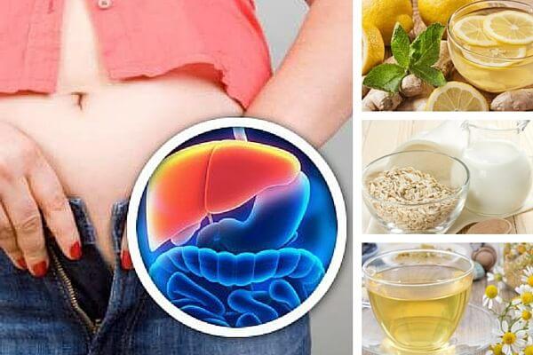 5 bebidas nocturnas para desintoxicar hígado y perder peso