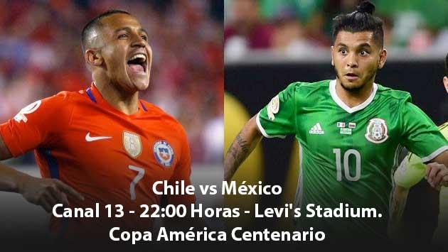 #Chile vs #México en vivo por Copa América Centenario 2016