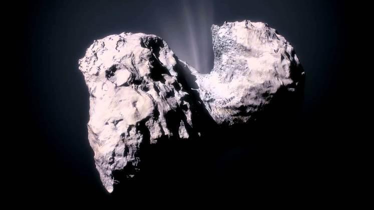 Ingredientes claves de la vida en la Tierra encontrados en el cometa 67P