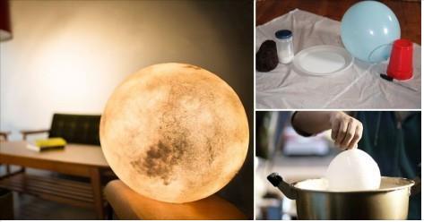 Como hacer una lámpara-luna