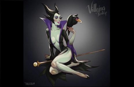 Estas ilustraciones eróticas de villanas Disney te harán sentir que no son tan malvadas