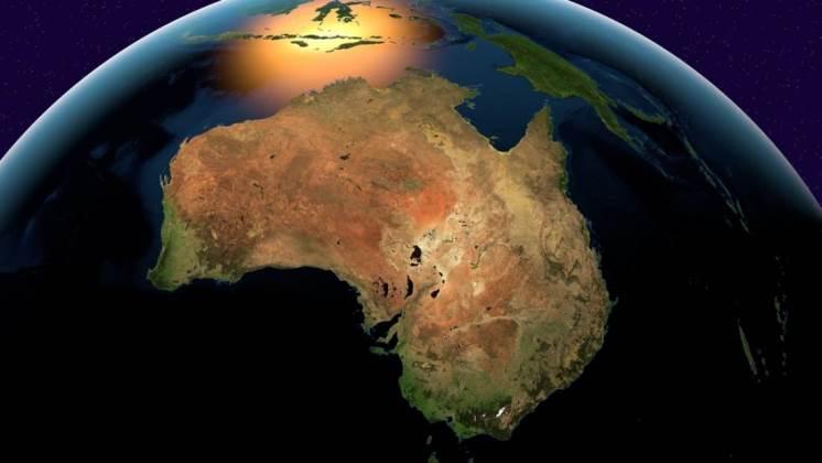 Australia se moverá 1,8 metros al norte el día de año nuevo de 2017