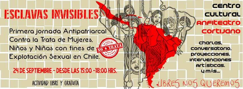Convocan a Primera Jornada Antipatriarca contra la trata de mujeres en Chile