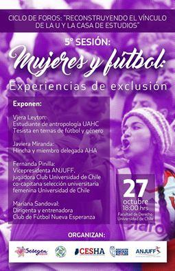 Mujeres se reunirán a compartir sus experiencias de exclusión y resistencia en torno al fútbol