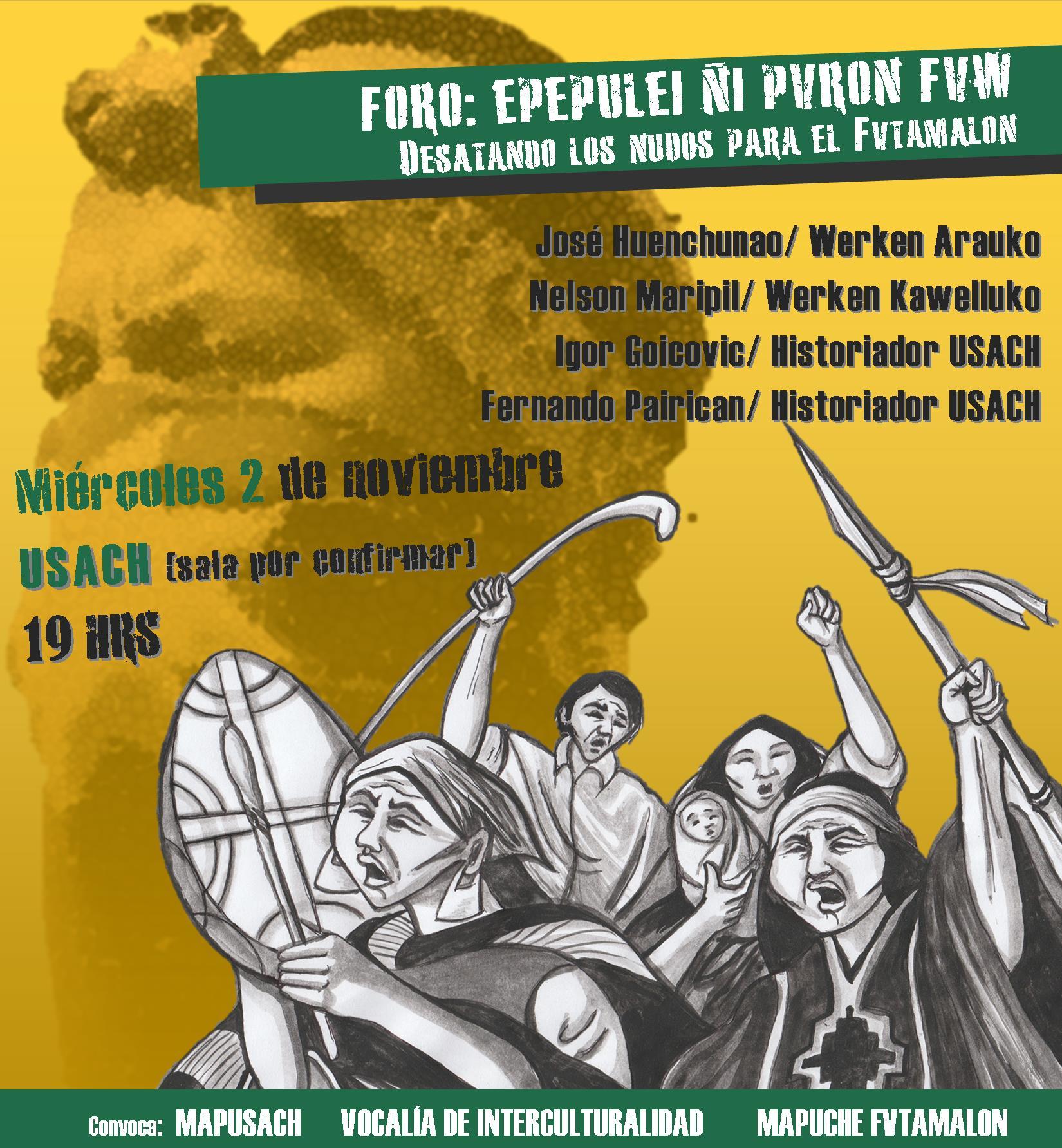 Invitación a Conmemoración del levantamiento Mapuche Fvtamalon