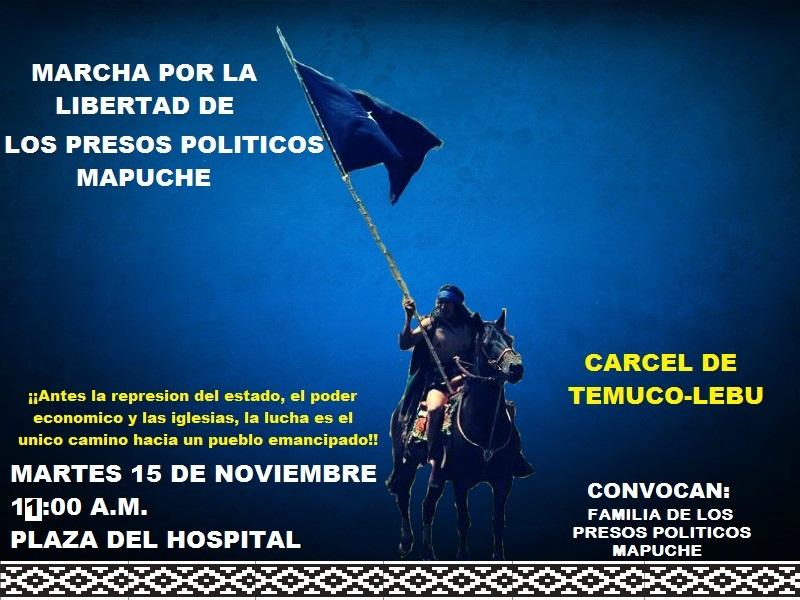 Convocan a movilizaciones en solidaridad con el pueblo mapuche
