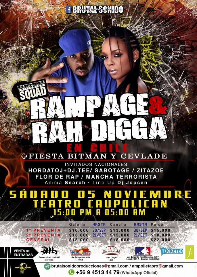 Rampage & Rah Digga en el Teatro Caupolicán