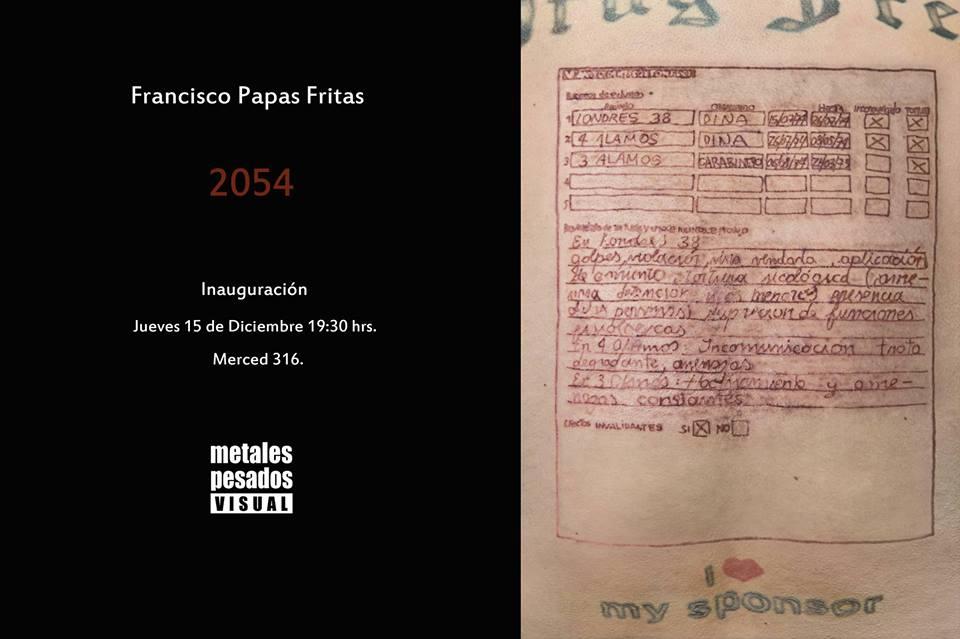 Francisco «Papas Fritas» inaugurará su exposición 2054 en Galería Metales Pesados Visual