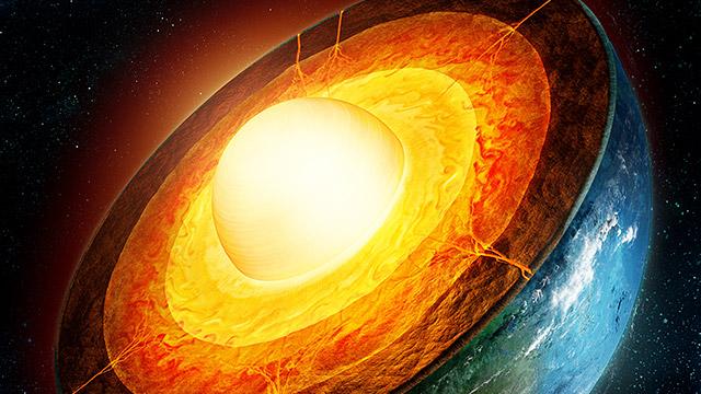 Geocientíficos descubren una 'corriente en chorro' de hierro fundido en el núcleo de la Tierra