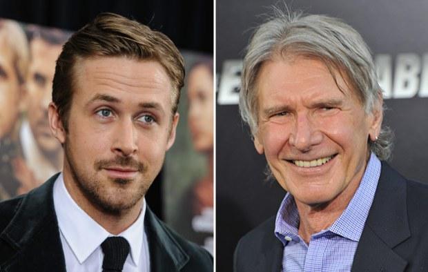 Harrison Ford le da un puñetazo a Ryan Gosling, lo empuja y se lleva el whisky