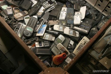 Mobile Phones at Electronic Waste Recycling Facility