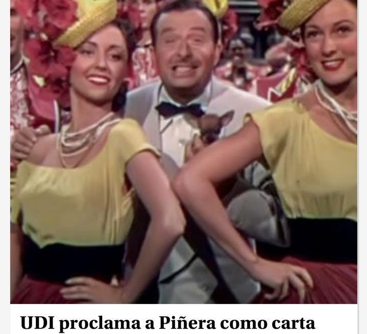La Tercera acompaña con curiosa imagen proclamación presidencial de Piñera en la UDI