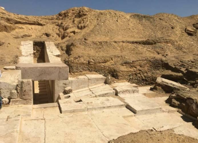 Ministerio de Antigüedades egipcio anuncia el nuevo descubrimiento de una pirámide