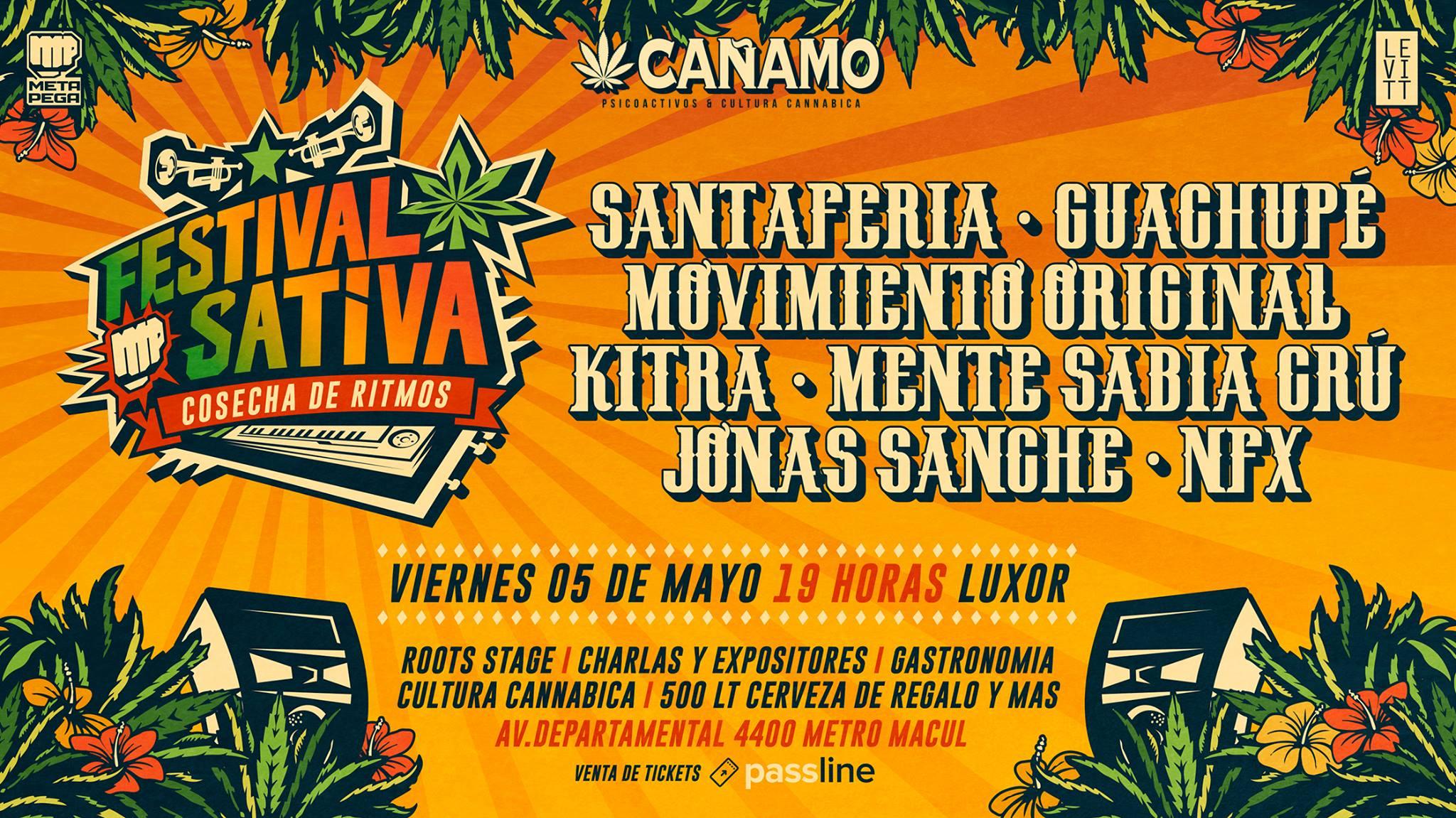 Festival Sativa llega a su 3era versión con grandes invitados