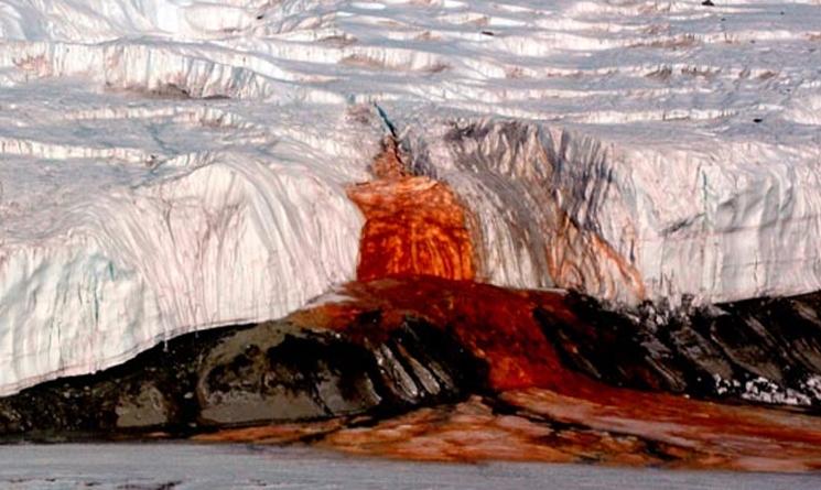 Científicos resuelven el misterio de las Cataratas de Sangre de la Antártida