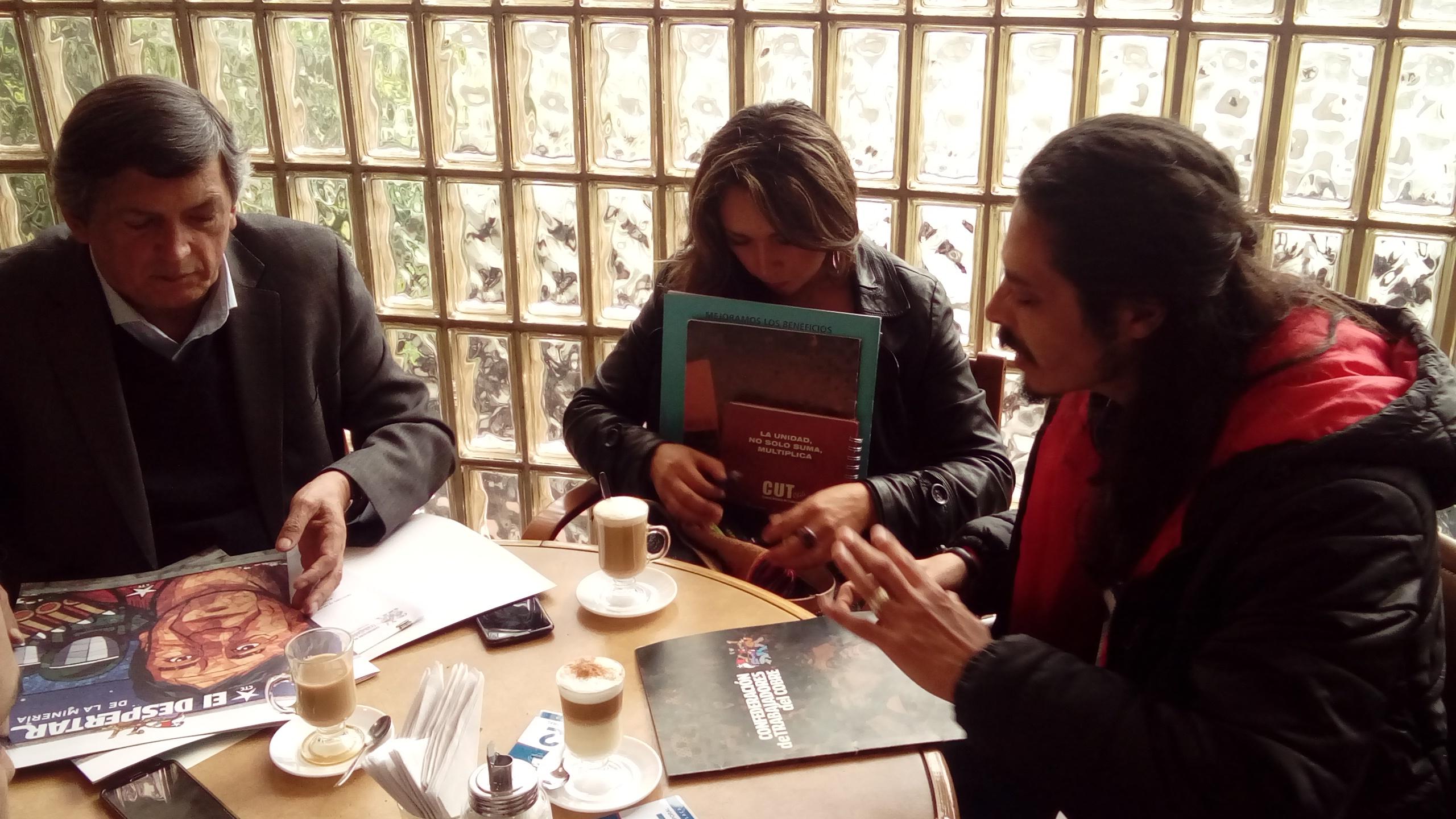 Diputados PC analizan demandas de trabajadores del cobre junto a CTC