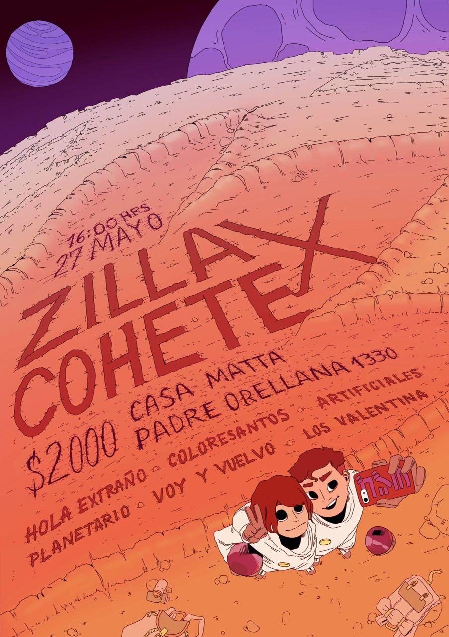 Zilla Cohete: siete bandas en vivo y un abanico explosivo de fotografía y diseño