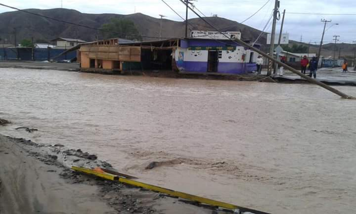 Lluvias en el norte: zona de catástrofe para Chañaral y Diego de Almagro