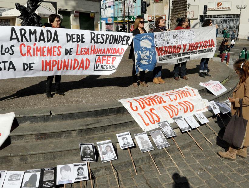 21 de mayo: Cuatro detenidos por manifestación de organizaciones de DD.HH. en Valparaíso