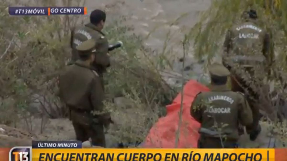 Guardia municipal encuentra cuerpo masculino en la orilla del río Mapocho