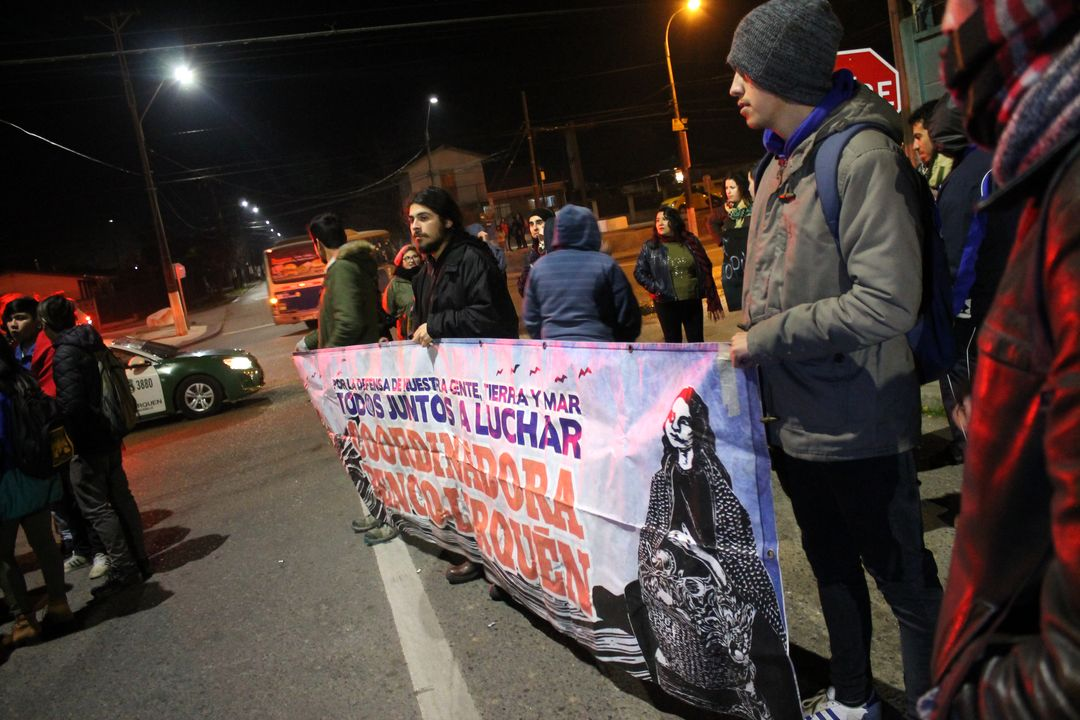 Lirquén: Manifestación en repudio a represión y criminalización de movimiento contra proyecto gasífero GNL
