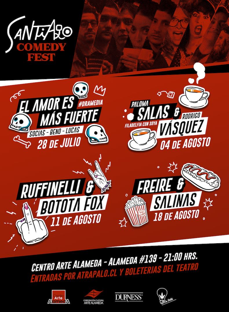 Ciclo de Stand Up «Santiago Comedy Fest» se realizará durante julio y agosto en Cine Arte Alameda