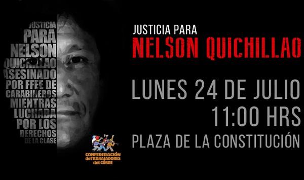 Organizaciones sindicales convocan a un acto en memoria de Nelson Quichillao