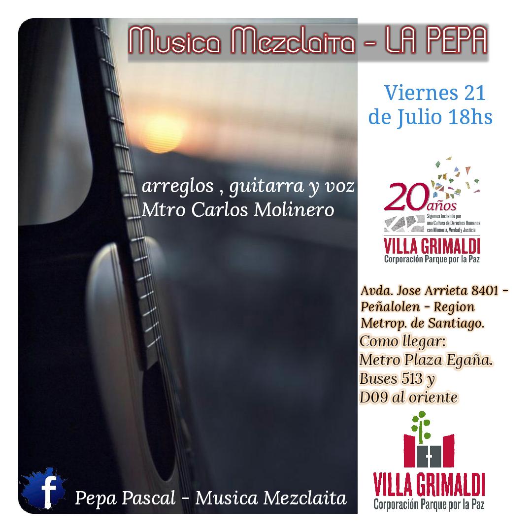 Cantante Pepa Pascal en Villa Grimaldi