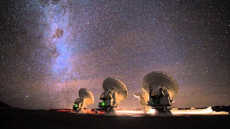 Detectan turbulencias de gas en galaxias distantes gracias a ALMA