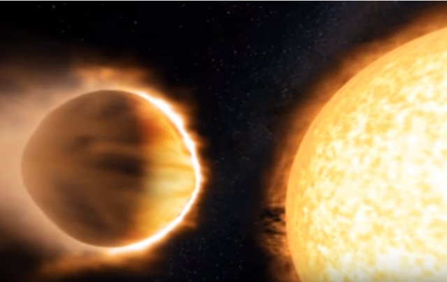 Observan estratosfera en un exoplaneta gracias a la detección de moléculas de agua brillantes