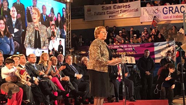 Chillán: Presidenta Bachelet promulga la ley que crea la nueva Región del Ñuble